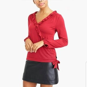 NWT J.Crew Mercantile maroon top size small